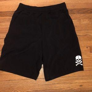 Black SoulCycle x Lululemon shorts